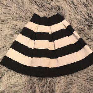 Striped Gather Skirt
